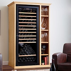 XL Custom Wine Cellar Cabinet With EuroCave Premiere