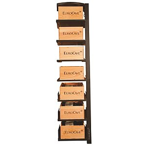 EuroCave Modulosteel 1 Column Wooden Box Sliding Shelf