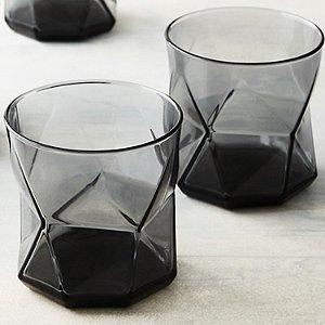 Geo Smoked Whiskey Glasses (Set of 4)