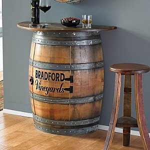 Personalized Half Barrel Bar