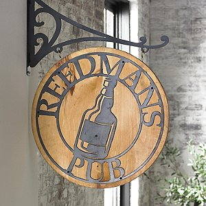 Personalized Reclaimed Barn Wood Pub Sign