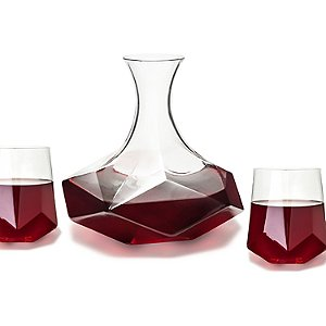 Geo Wine Glasses and Decanter Set