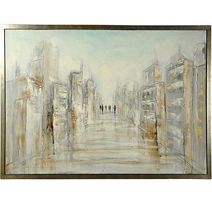'District' Hand-Painted Framed Canvas Art