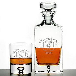 Personalized 'Big Game' Lexington Whiskey Decanter and Glasses