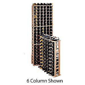 Redwood Modular Wine Rack Kit - 63 Bottle