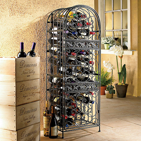 Renaissance Wrought Iron Wine Jail Wine Enthusiast