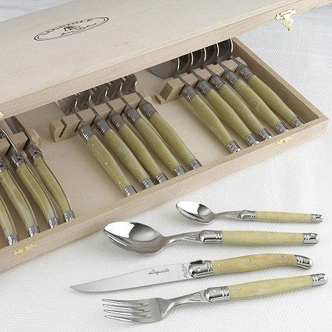 Jean Dubost Laguiole 24-Piece Flatware Set (Pearlized Ivory)