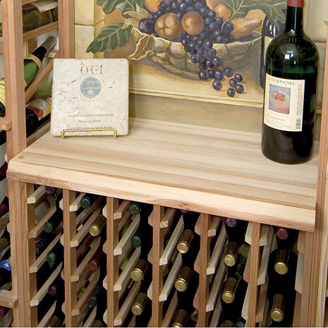 Sonoma Designer Wine Rack Kit - Wood Table Top for 6 Column Wine Rack
