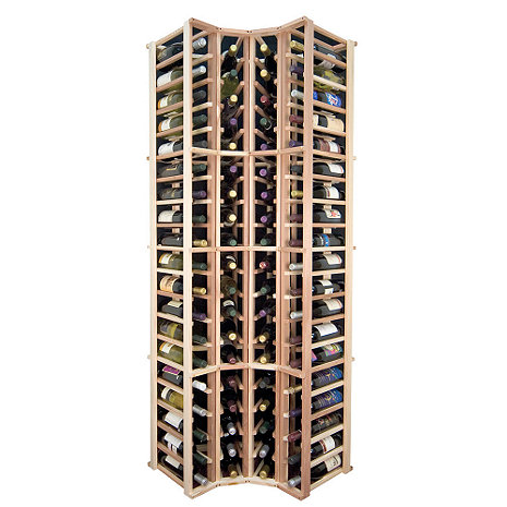 Sonoma Designer Wine Rack Kit - 4 Column Corner Rack w/o Display