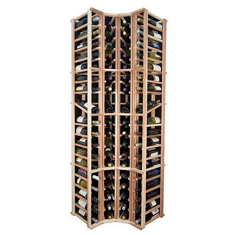 Sonoma Designer Wine Rack Kit - 4 Column Curved Corner Wine Rack w/Display