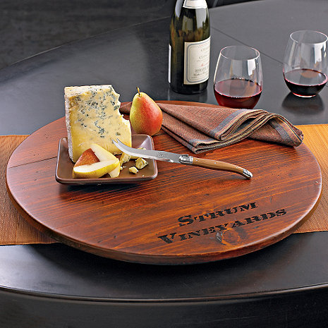 Personalized Wine Barrel Lazy Susan Wine Enthusiast