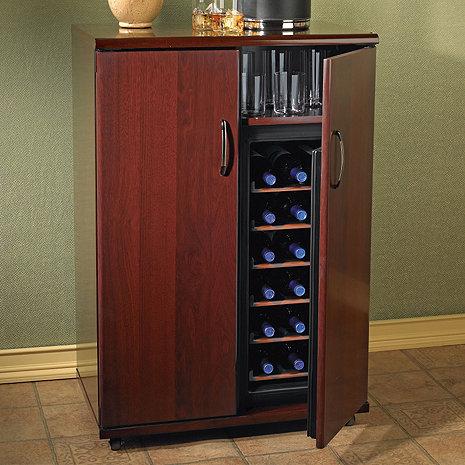 Saint Helena Wine Bar (36 Bottle - 2-Temp) (Mahogany)