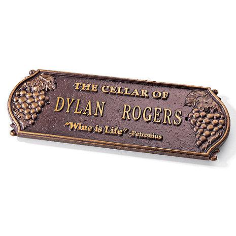 Personalized Wine Cellar Plaque (Antique Copper)