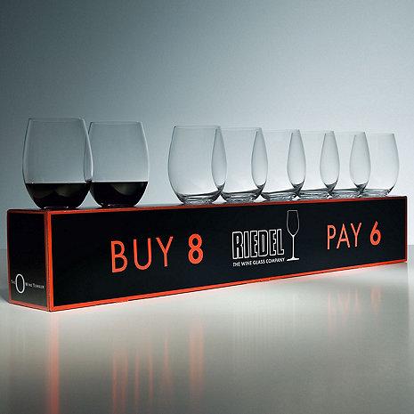 Riedel 'O' Buy 8 Pay 6 Cabernet/Merlot Stemless Wine Glasses (Set of 8)
