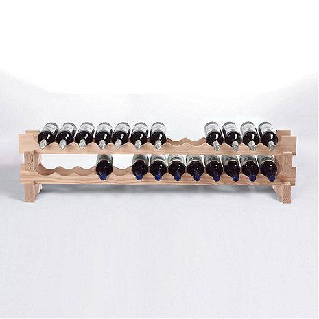 26 Bottle Stackable Wine Rack Kit (Natural)