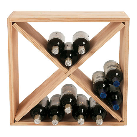 24 Bottle Compact Cellar Cube Wine Rack (Natural)