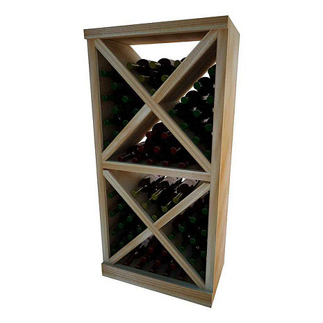 Napa Vintner Stackable Wine Rack - Solid Diamond Cube w/Face Trim