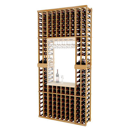 Napa Vintner Stackable Wine Rack - 10 Column Individual w/Display