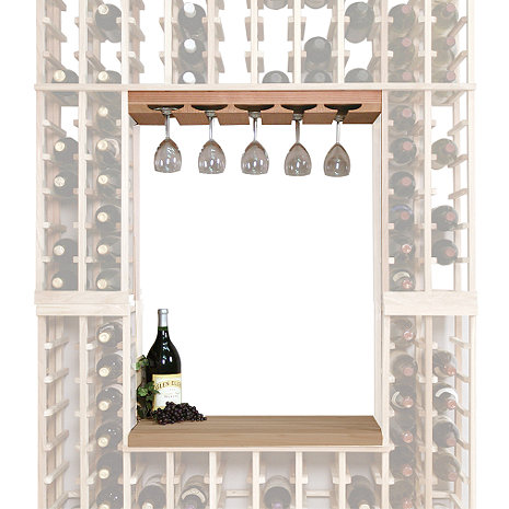 Napa Vintner Stackable Wine Rack - Glass Rack & Table Top Insert