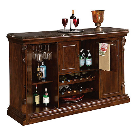 Howard miller niagara console wine enthusiast for Home dry bar furniture