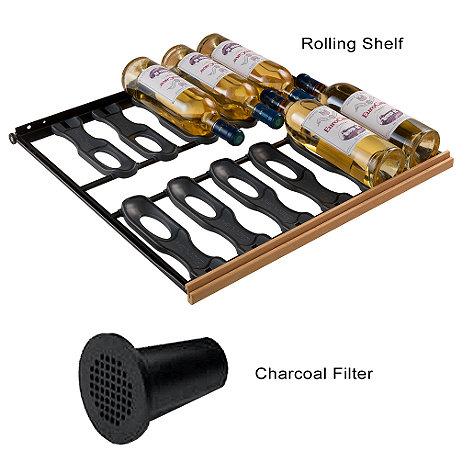 EuroCave Standard Pack - 6 Main du Sommelier Rolling Shelves & Charcoal Filter (Performance & Comfort Series) (Beech)