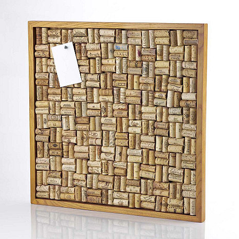 Large wine cork board kit wine enthusiast for Kitchen cork board ideas