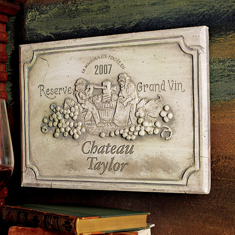 Personalized Wine Label Sign