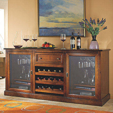Siena wine credenza wine enthusiast Living room bar with fridge