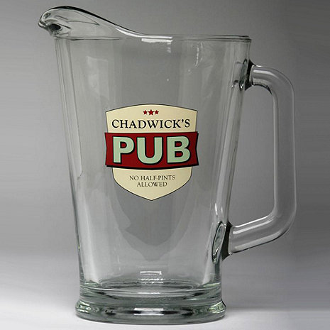 Personalized No Half-Pints Allowed Pitcher