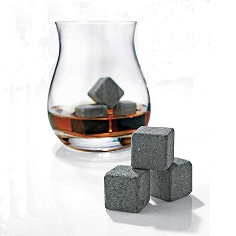 Glencairn Wide-Bowl Whisky Glasses and Arctic Rocks Set