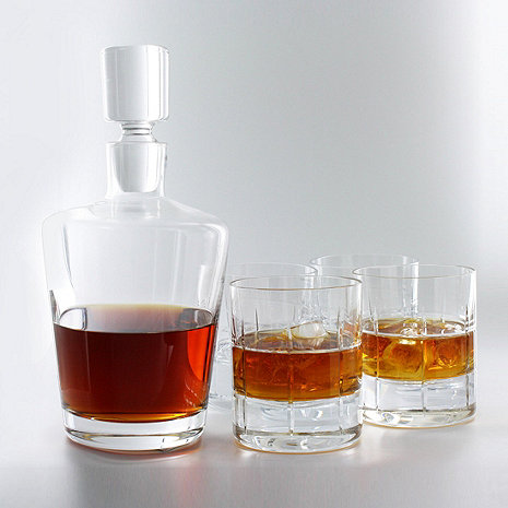 5 piece whiskey decanter set wine enthusiast. Black Bedroom Furniture Sets. Home Design Ideas