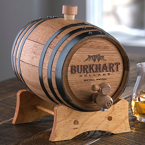 Personalized Mini Oak Wine Barrel