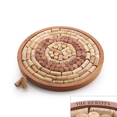 Personalized Round Wine Cork Board Kit