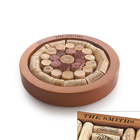 Personalized Round Wine Cork Trivet Kit