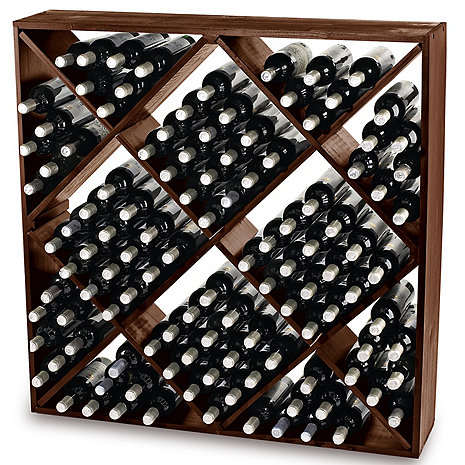 Jumbo Bin 120 Bottle Wine Rack (Walnut)
