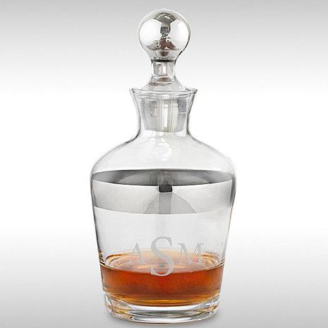 Monogrammed Madison Avenue Whiskey Decanter