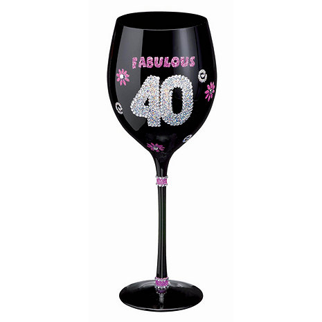 home glassware wine glasses birthday wine glass 40th