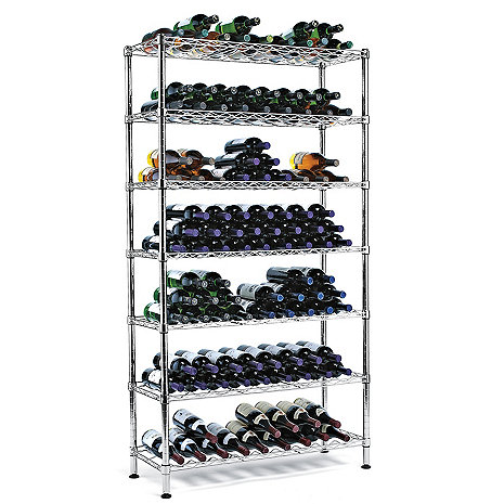 Steel Pantry Wine Rack 126 Bottles Wine Enthusiast