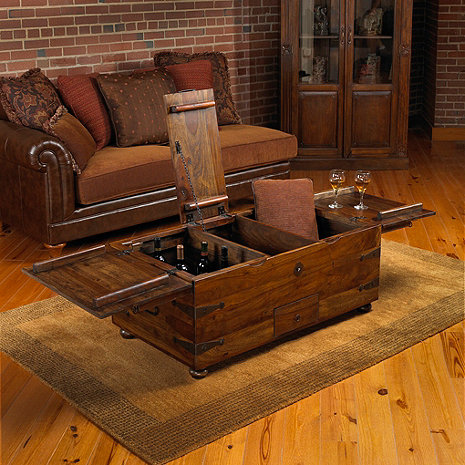 Thakat Bar Box Trunk Coffee Table Wine Enthusiast