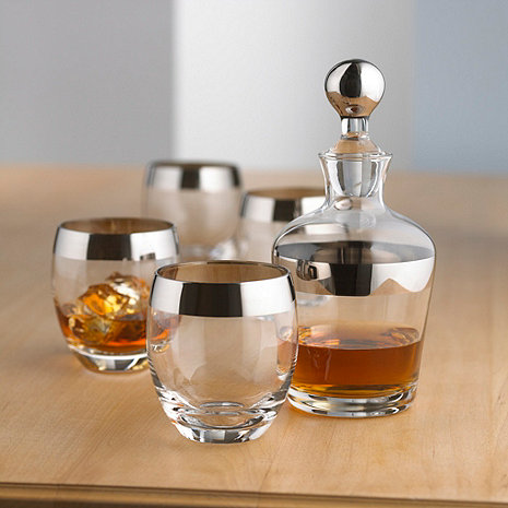 madison avenue whiskey decanter and glasses set wine. Black Bedroom Furniture Sets. Home Design Ideas
