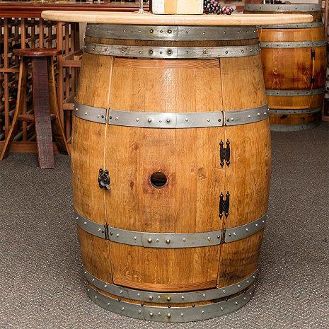 Reclaimed Half Barrel Bar/Console