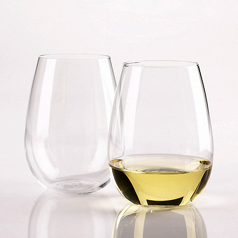 Wine Enthusiast Chardonnay Stemless Wine Glasses