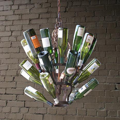 Luce De Vino Wine Bottle Chandelier (Small)