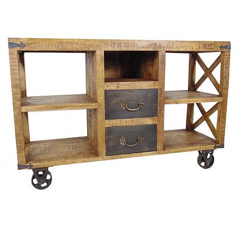 Napa Two Drawer Wheel Buffet Table