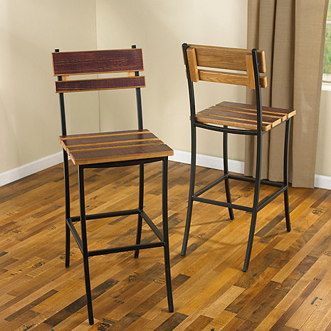 Iron Stool with Barrel Head Back and Seat