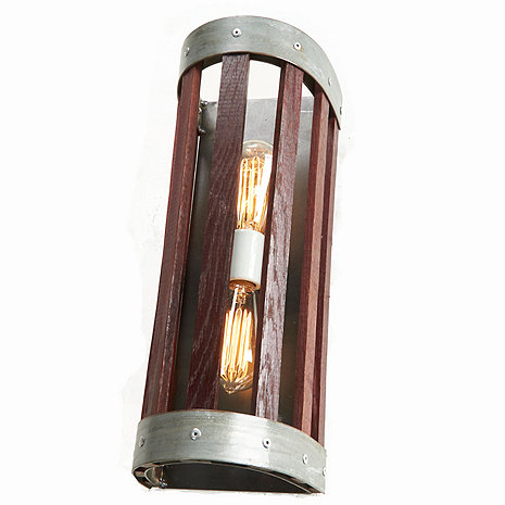 Wine Barrel Stave Wall Sconce (Large)