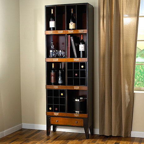 Library Bookcase with Two Wine Casiers