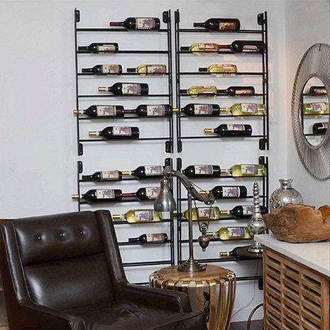 12 Bottle Wall Ladder Wine Rack