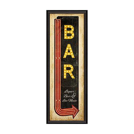 Bar Sign with Arrow