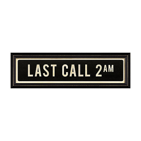 Last Call 2 AM Street Sign